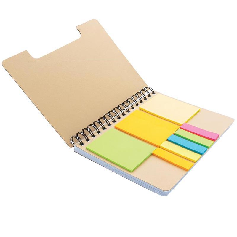 Carnet A5 en kraft & notes mémo Noteme - fournitures de bureau personnalisées