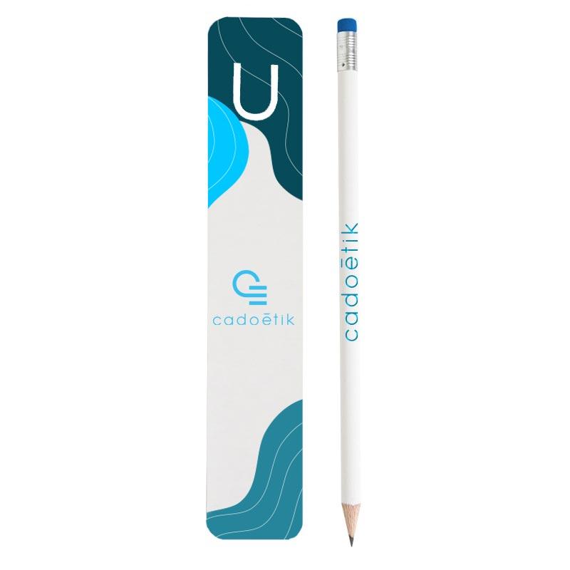 Kit marque-page publicitaire et crayon à papier Eco Pantone