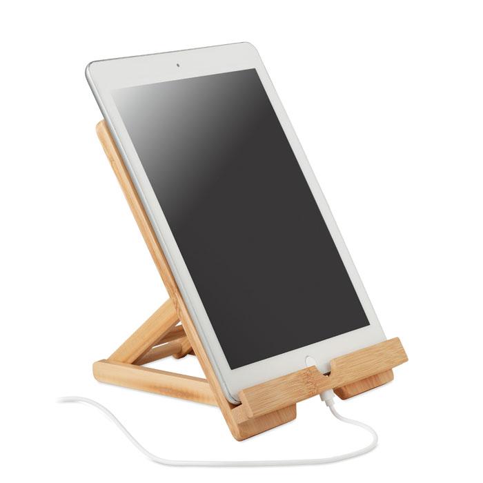 Support pour tablette et téléphone publicitaire en bambou Tuanui 2