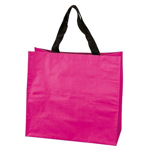 Sac Shopping personnalisé pp tisse Dora - cabas de course publicitaire rose