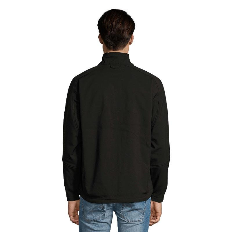 Veste softshell publicitaire zippée homme Relax - Porté dos