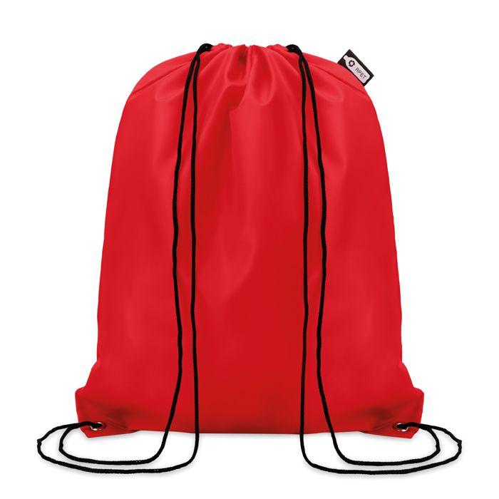 Gymbag personnalisé écologique en rPET Shooppet - sac à cordelettes personnalisable bleu