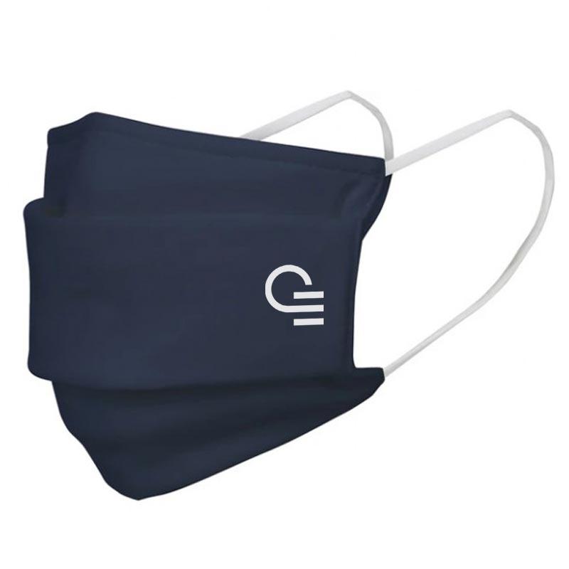 Masque publicitaire en coton de type 1 Warna - Coloris bleu