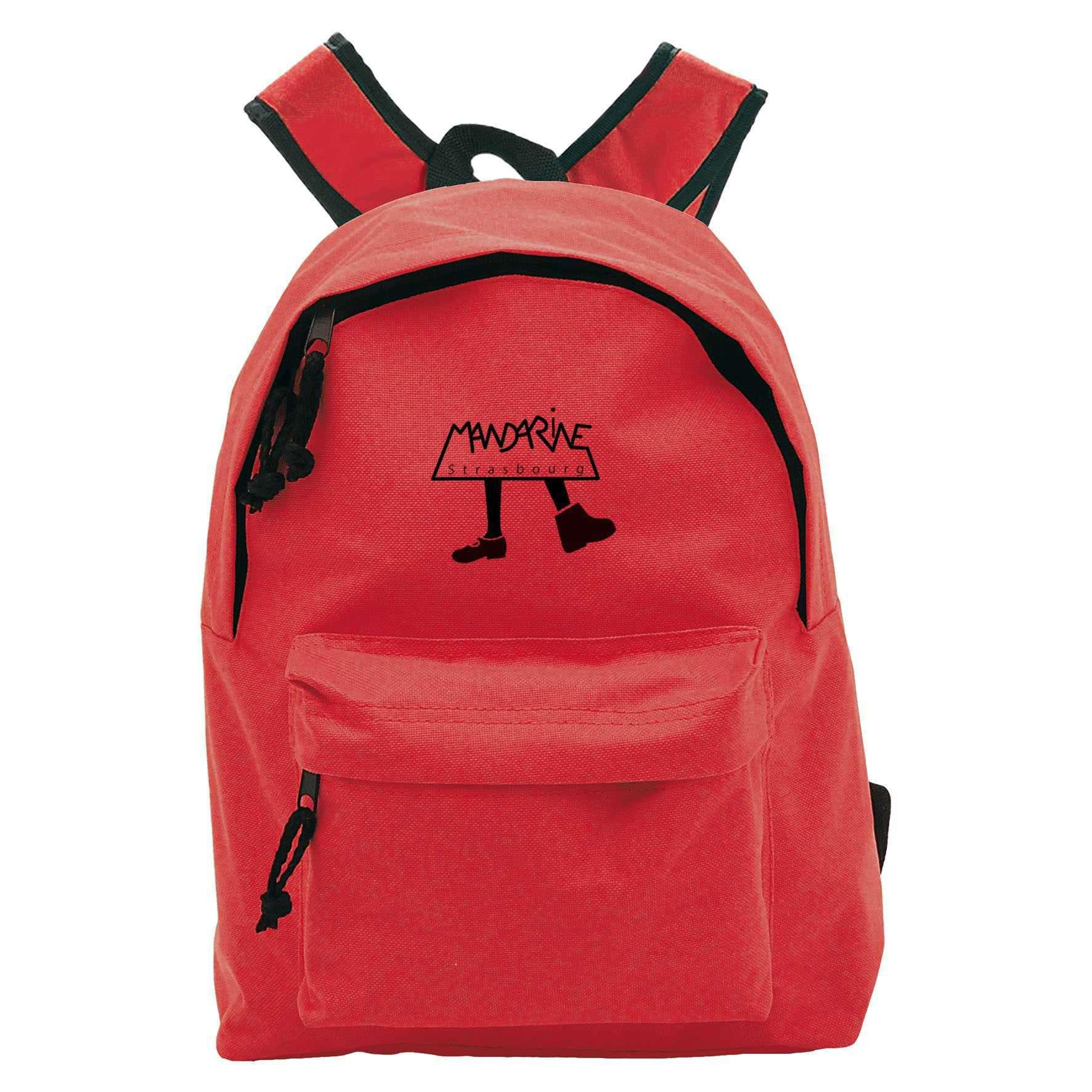 Petit sac à dos publicitaire Coloré - sac à dos personnalisable rouge