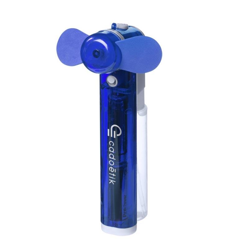 Brumisateur publicitaire de poche et ventilateur Fiji - Coloris bleu