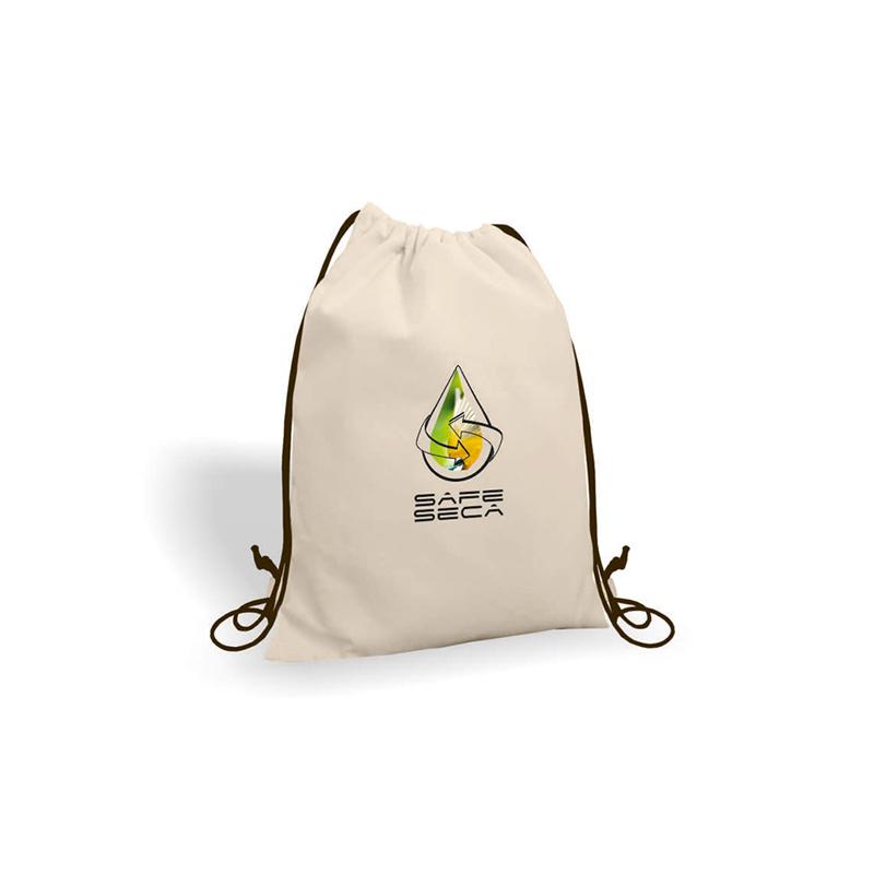 Gym bag publicitaire en coton Gaya - sac coton personnalisé