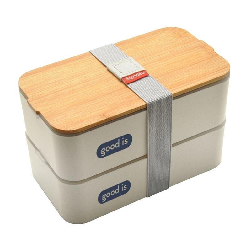 Lunch box publicitaire en fibre de blé Mihara - Goodies entreprise