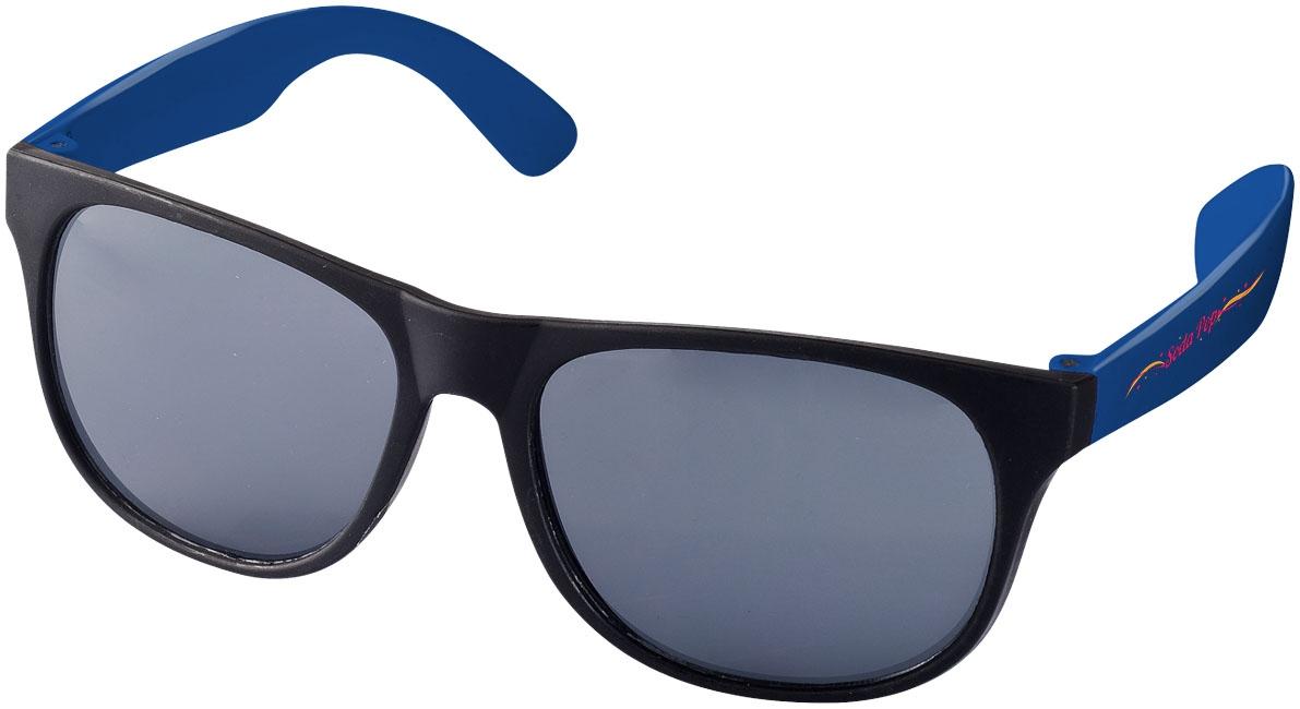 Lunettes de soleil publicitaires Rétro bleues