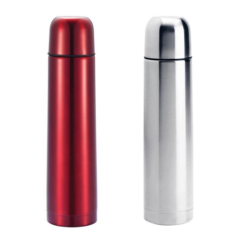 Flacon en inox personnalisable rouge ou argent