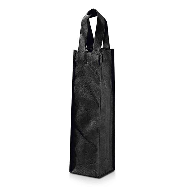 Sac bouteille personnalisable écologique Tasting noir - goodies écologique