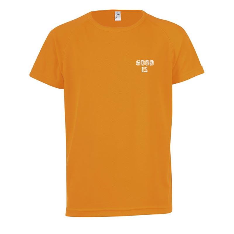 T-shirt publicitaire Sporty taille enfant - Coloris orange