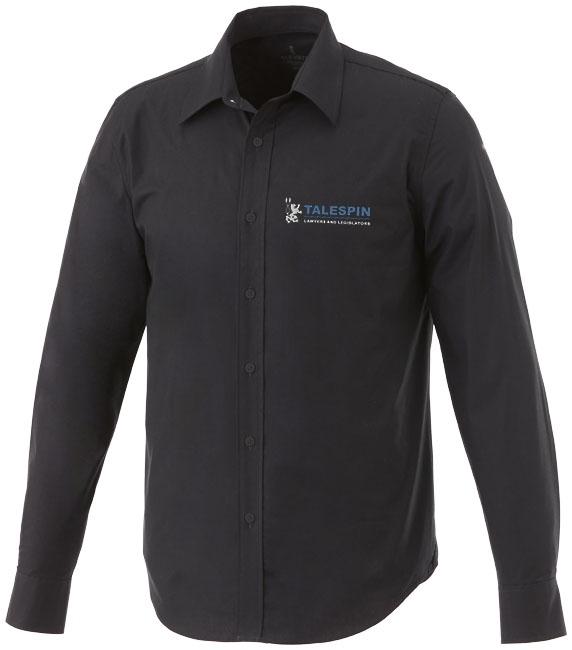Chemise publicitaire manches longues Hamell pour homme bleue
