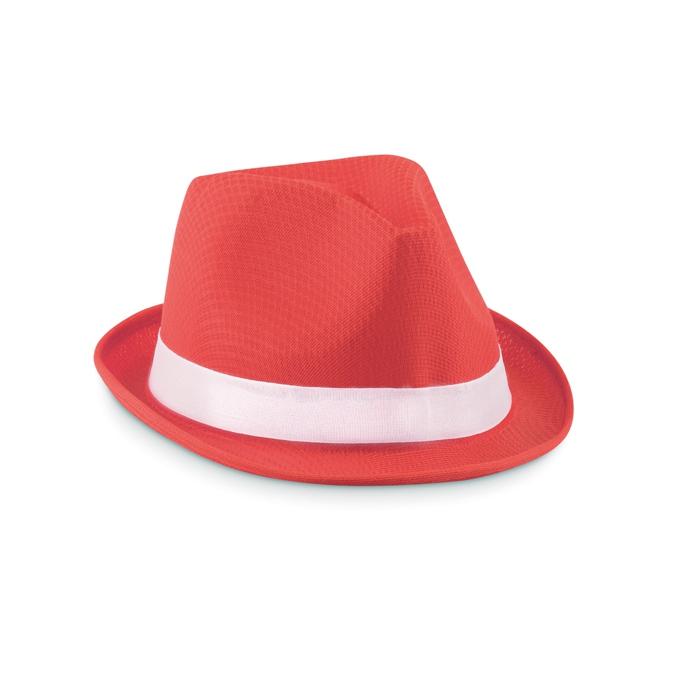Chapeau personnalisé Woogie - Chapeau publicitaire coloré rouge