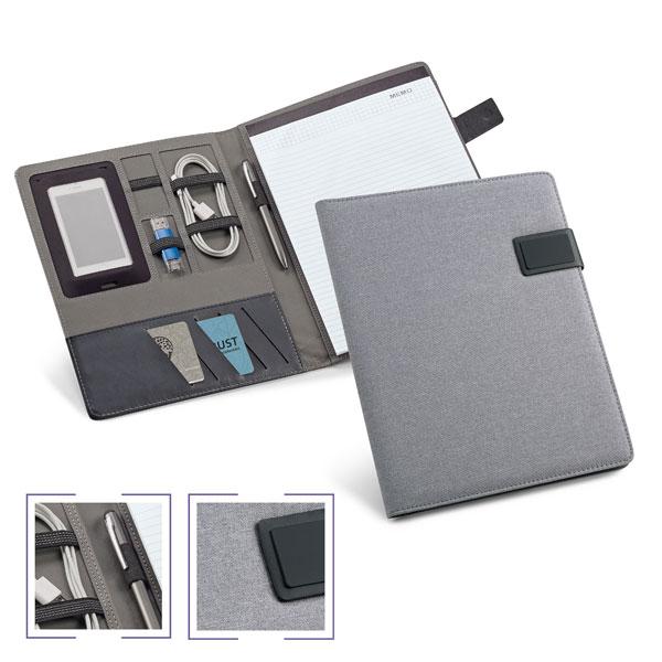 Conférencier promotionnel A4 Grey - cadeau d'entreprise