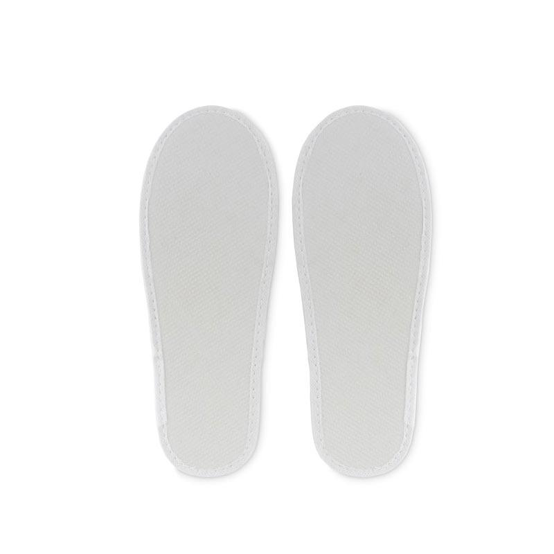 Chaussons publicitaires Flip Flap - avec votre logo - blanc