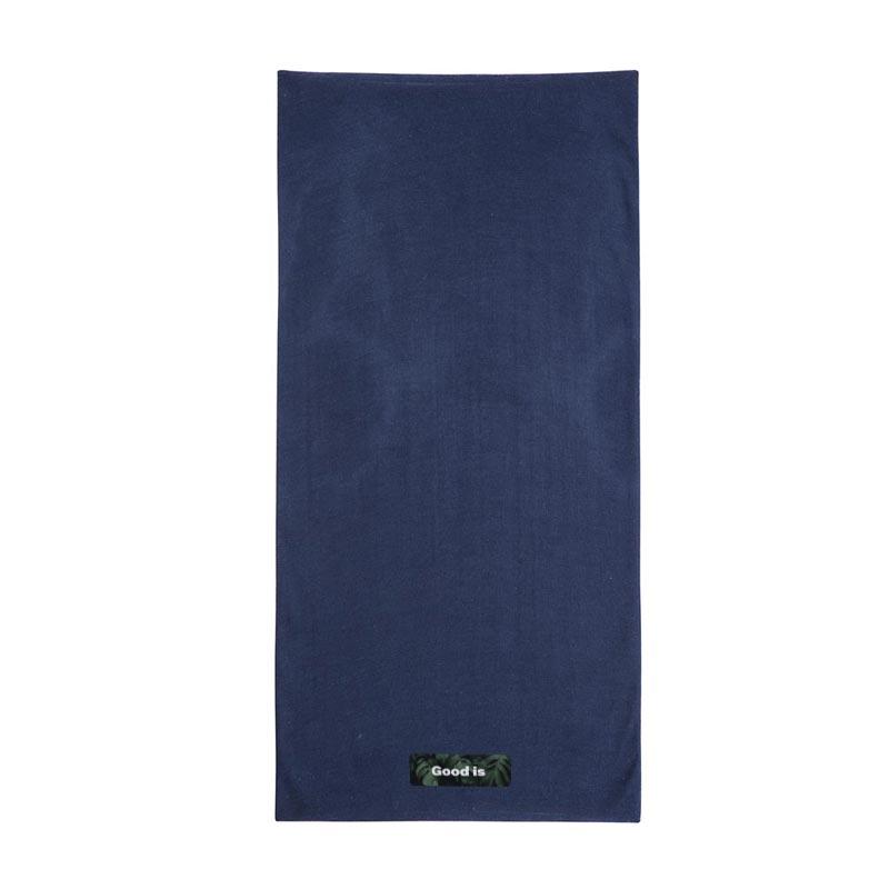 écharpe publicitaire multifonctionnelle plat bleue