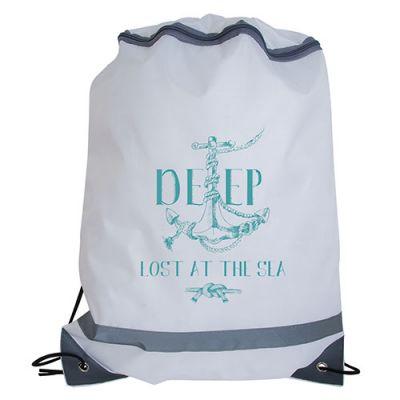 Sac à dos ficelle publicitaire avec zip - sac à dos ficelle personnalisable