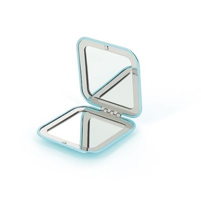 Goodies femmes - Double Miroir de poche publicitaire aluminium Duobella