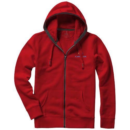 Veste à capuche personnalisable rouge