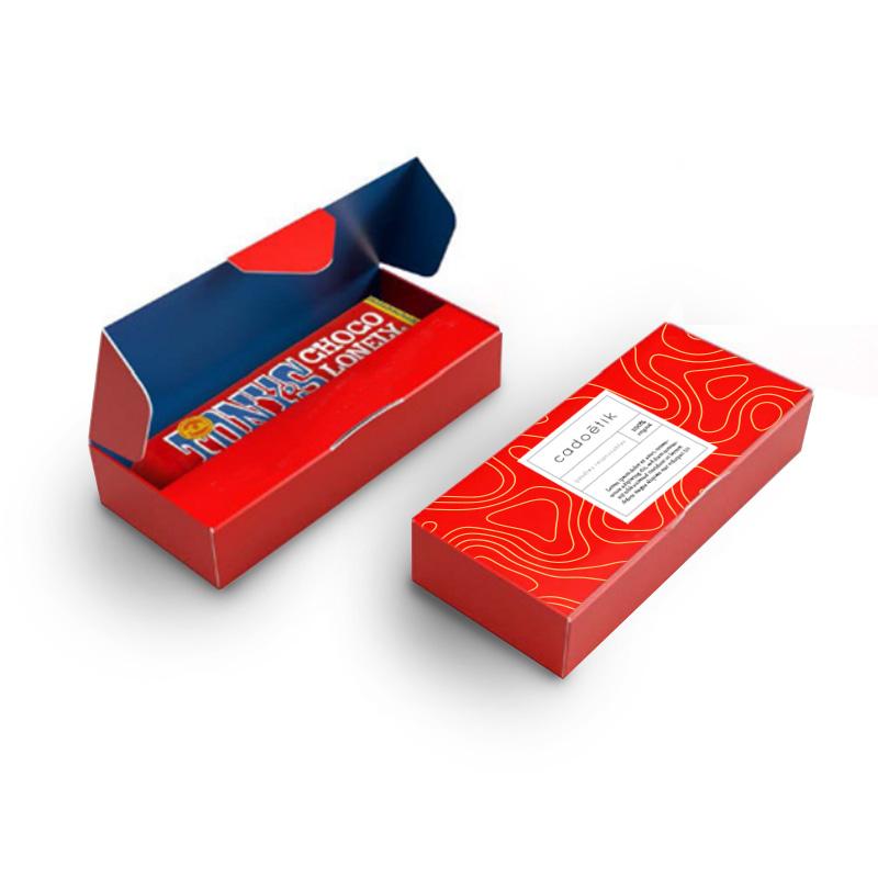 Barres de chocolat publicitaires Tony's Chocolonely rouge