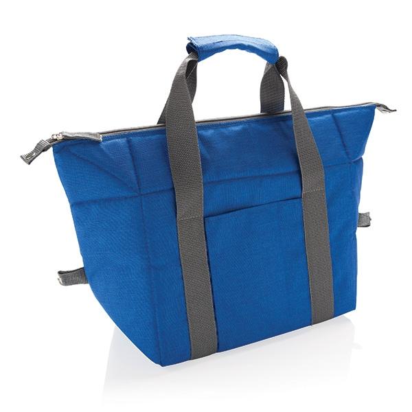 Sac isotherme personnalisable Cabas gris/bleu - cadeau d'entreprise