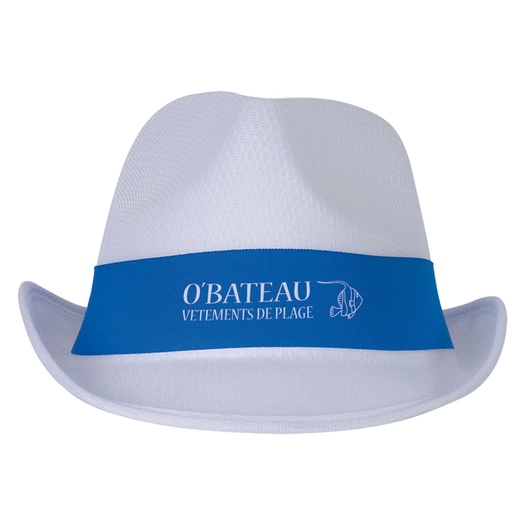 Cadeau d'entreprise - Chapeau publicitaire Panama Evènement - bleu