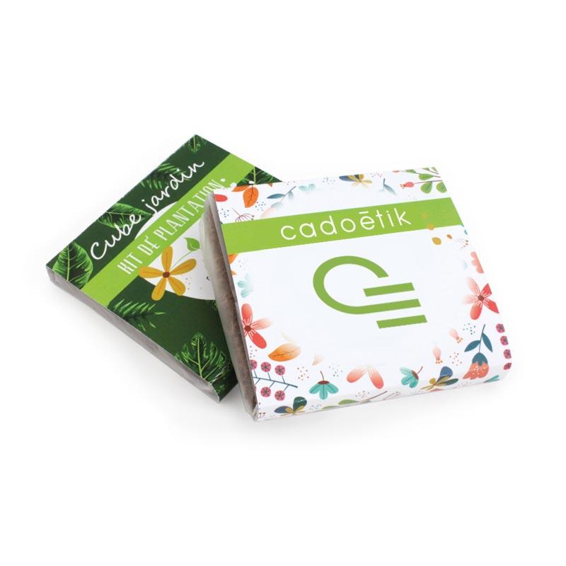 Kit de plantation publicitaire Pocket Coco ultra compact pour envoi postal