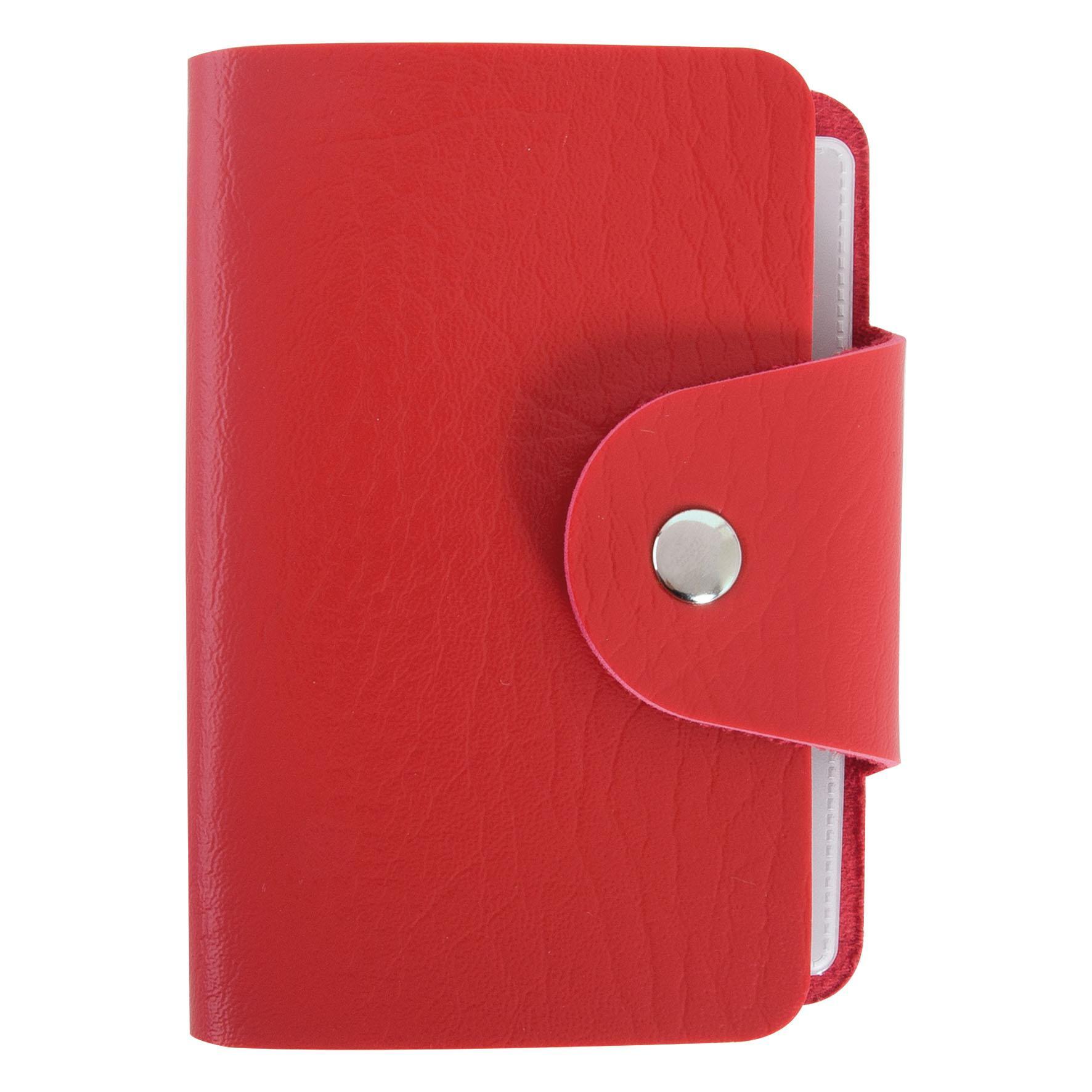 Objet publicitaire - Porte-cartes publicitaire 12 poches - rouge