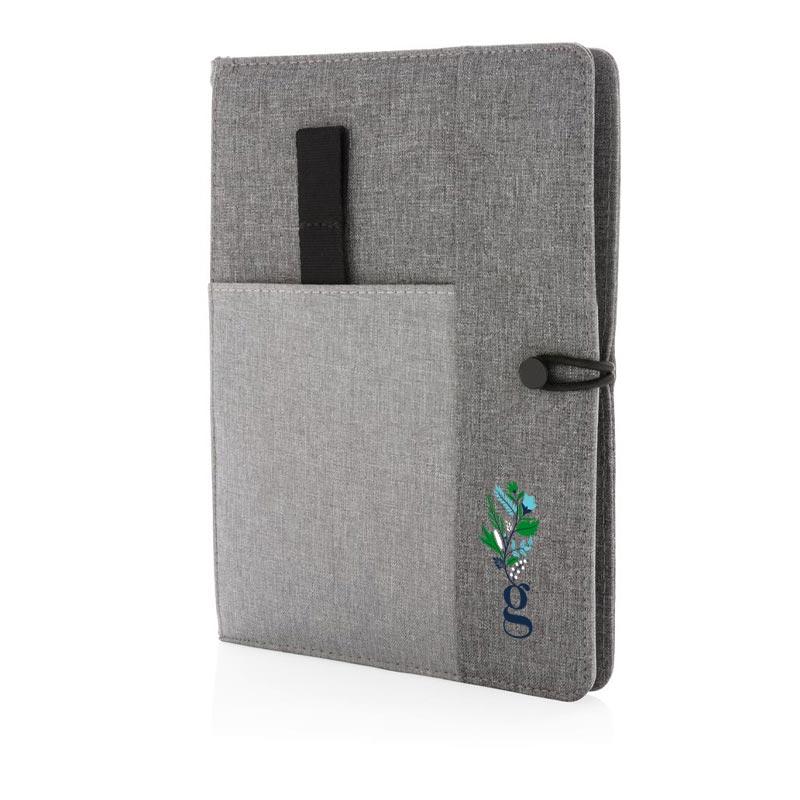 Carnet de notes publicitaire gris A5 Kyoto - cadeau d'entreprise