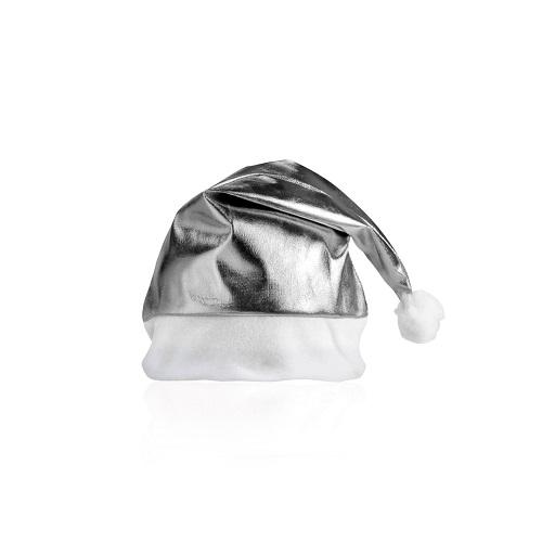 Bonnet de Père Noël Publicitaire Shiny argent