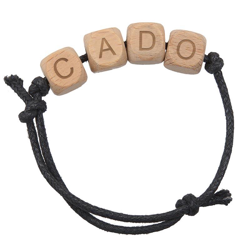 Bracelet publicitaire avec lettres en bois Bralph - Cado