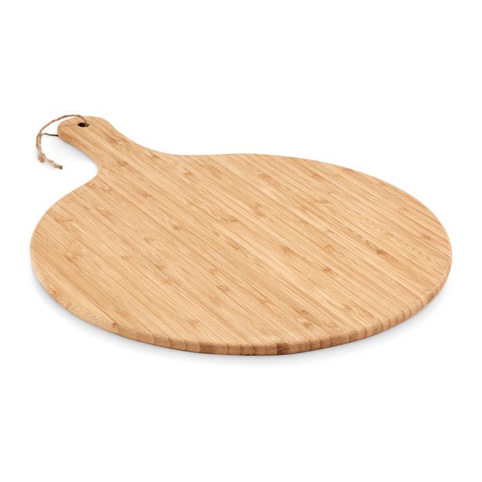 Planche de service publicitaire ronde en bambou Serve