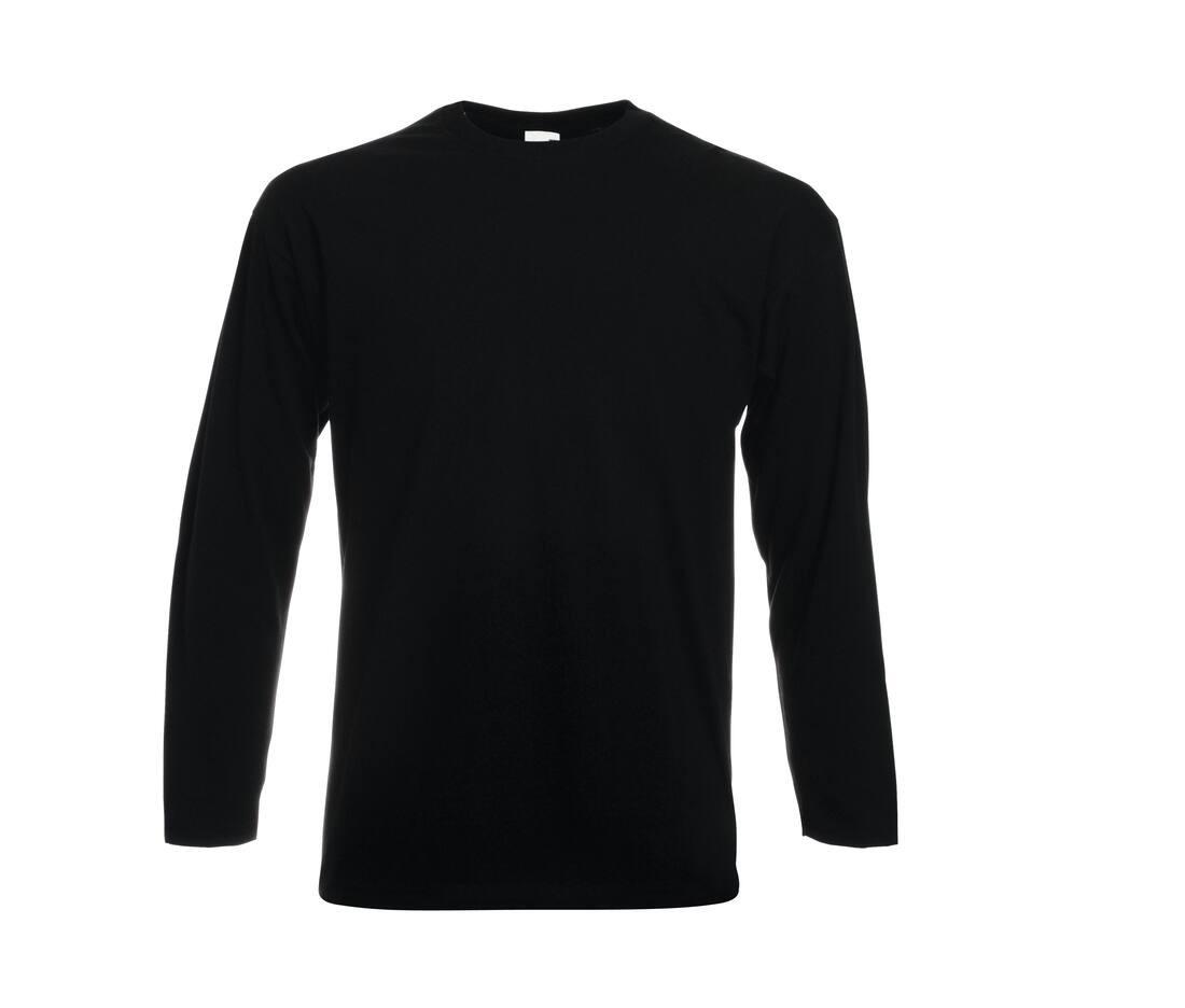 T-shirt publicitaire homme manches longues en coton Valueweight 1
