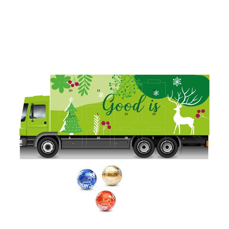 Calendrier de l'Avent en forme de camion - goodies chocolat