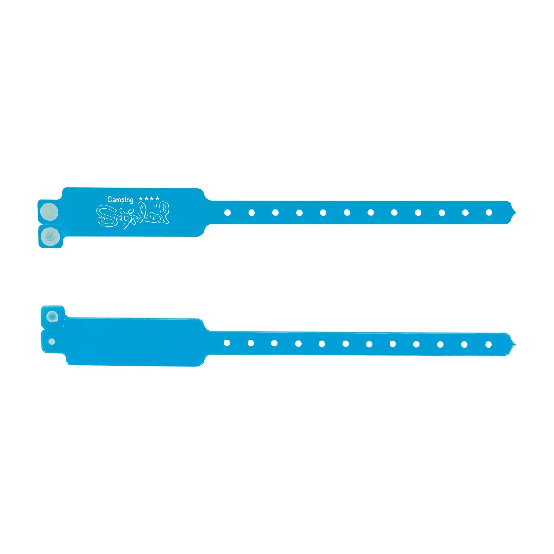 Goodies évènementiel - Bracelet publicitaire inviolable Security - bleu