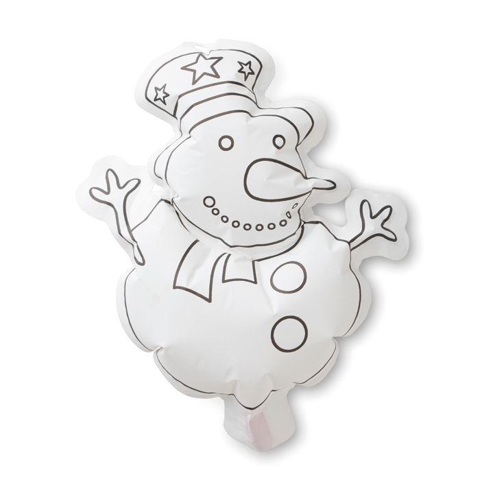 Goodies Noël - Ballon à colorier personnalisable Snowball