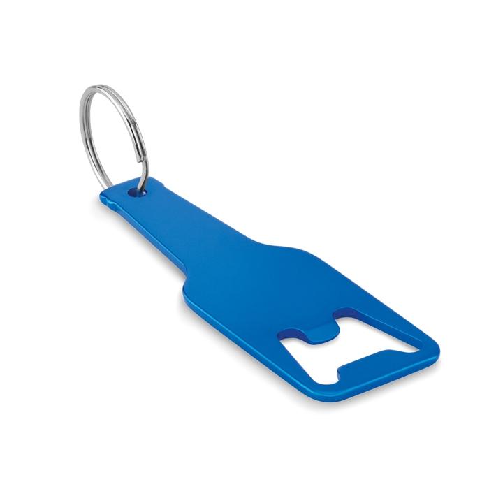 Goodies - Porte-clés decapsuleur personnalisé en alu Botelia - bleu