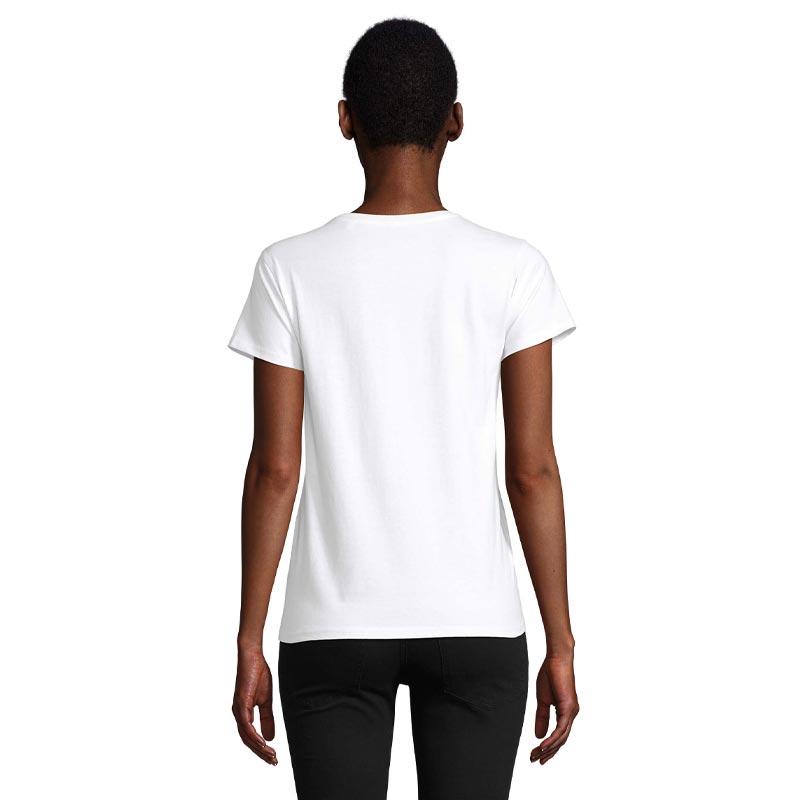 T-shirt femme personnalisé en coton bio Pioneer