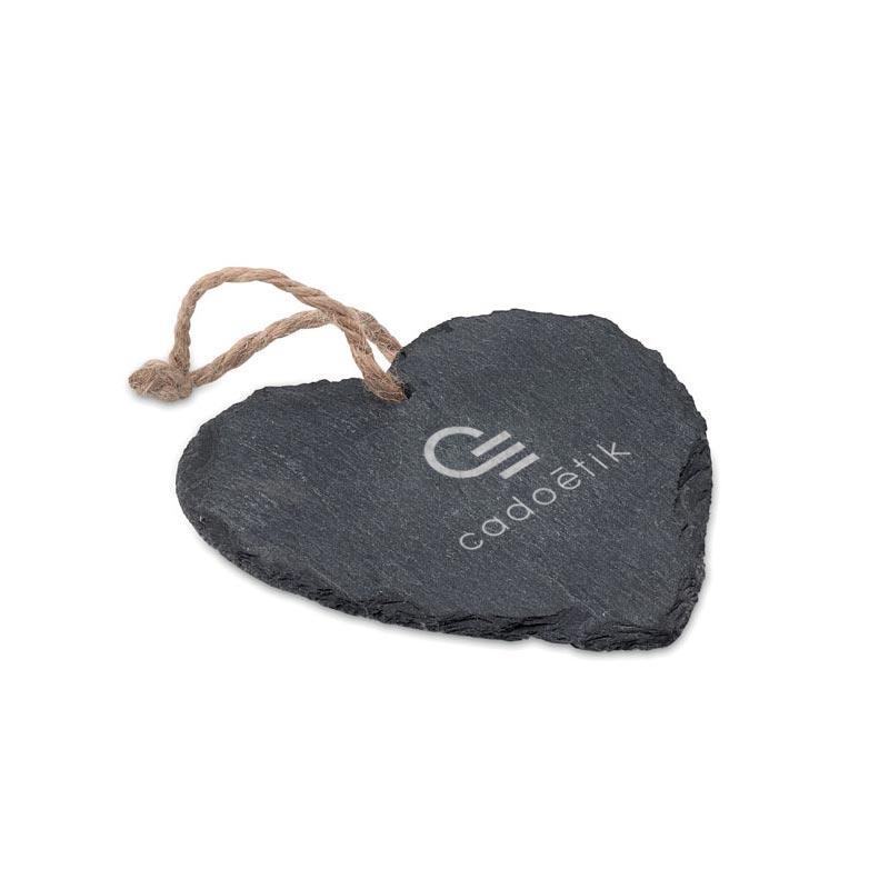 Cadeau d'entreprise - Suspension ardoise coeur Slateheart