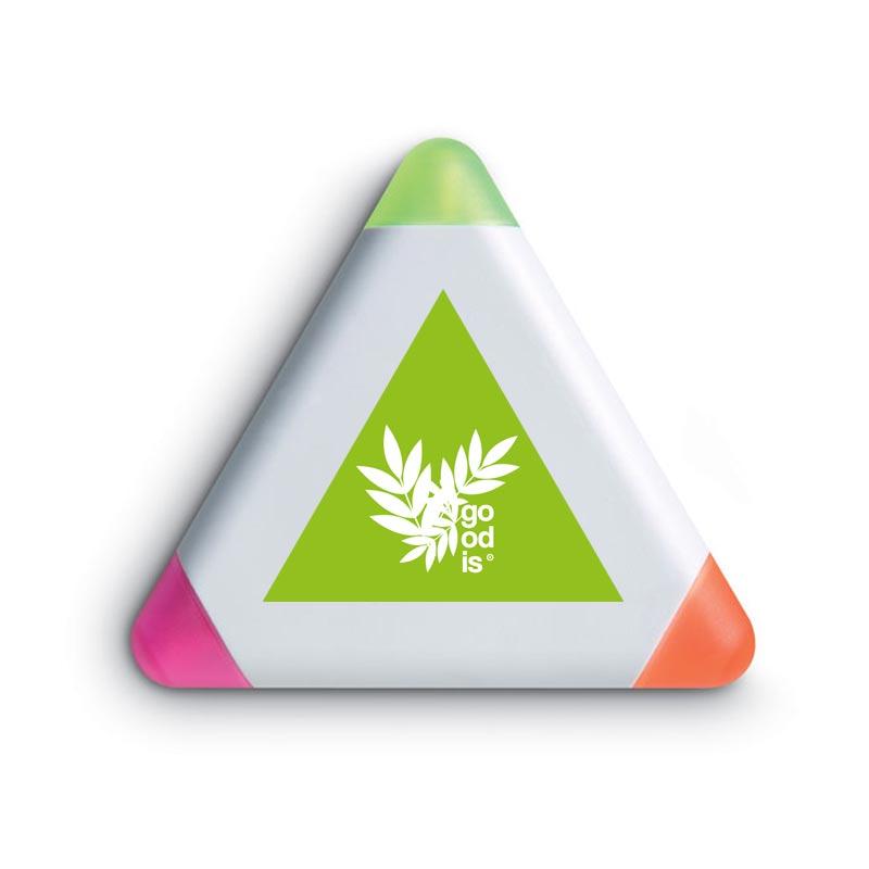 Surligneur personnalisable 3 couleurs Triangle