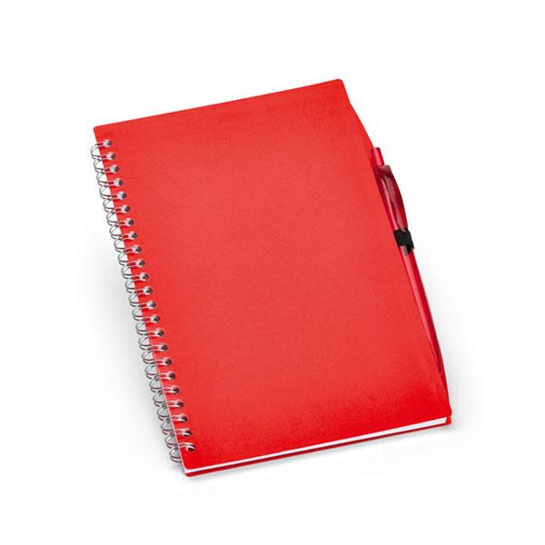 Carnet promotionnel Huddle rouge - carnet publicitaire