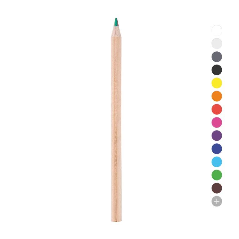 goodies écoresponsable - crayon de couleur publicitaire 4 couleurs Eco