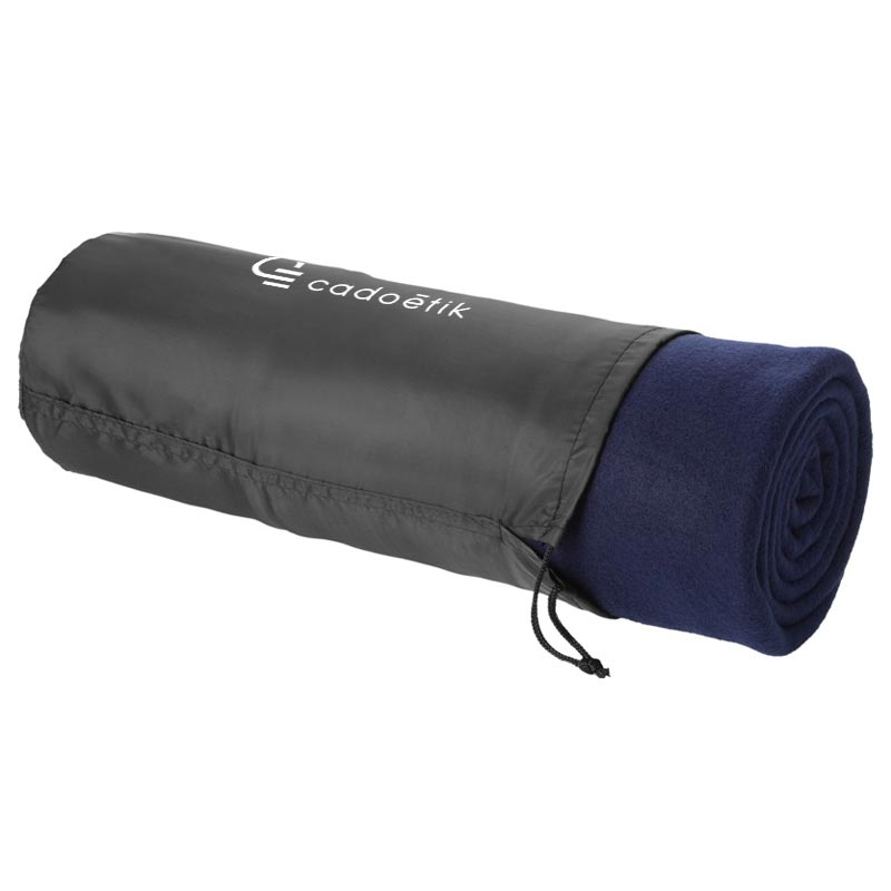 Plaid publicitaire polaire Stan 150x120cm 360 g - Marquage sac