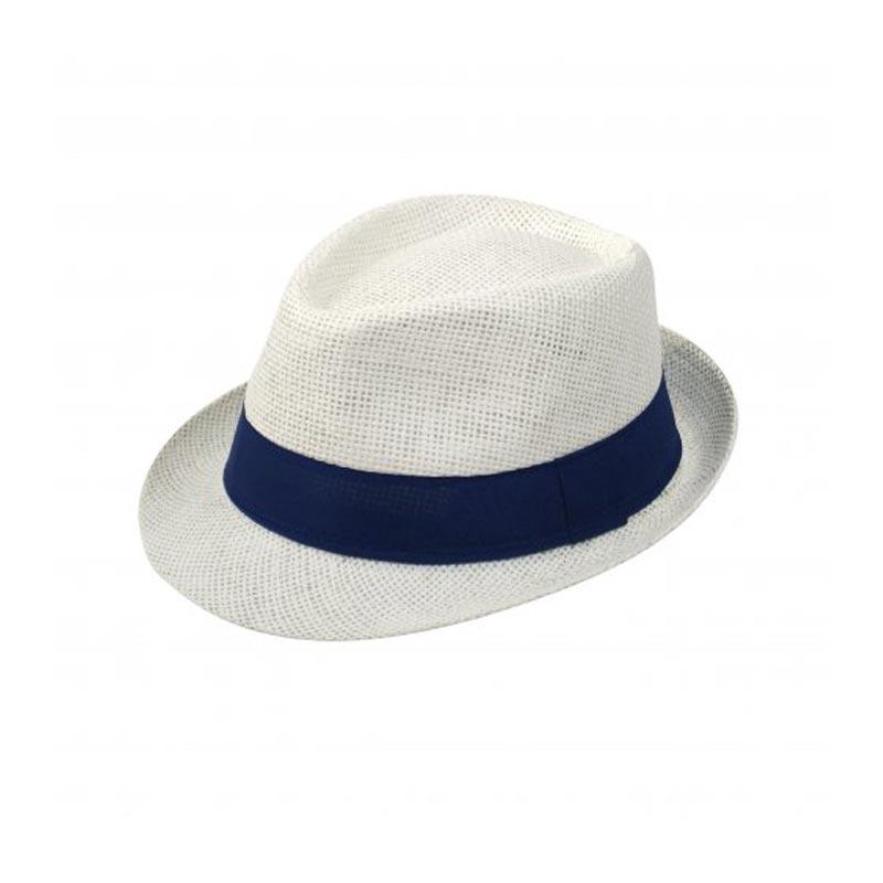 Chapeau publicitaire Trilby - blanc
