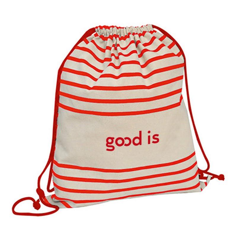 Gymbag publicitaire à rayures Striped - cadeau publicitaire