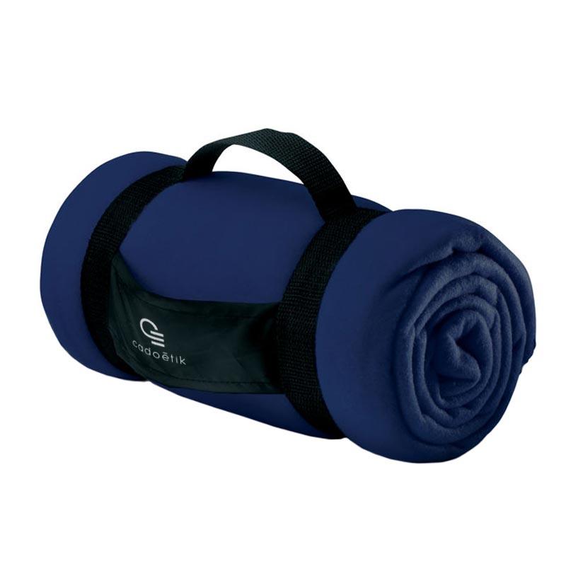 Couverture polaire publicitaire Stavenger 150x120cm 180 g - Coloris bleu