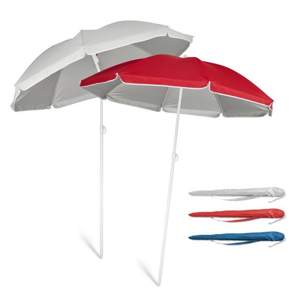 Accessoire publicitaire pour la plage - Parasol personnalisé Marina  - gris