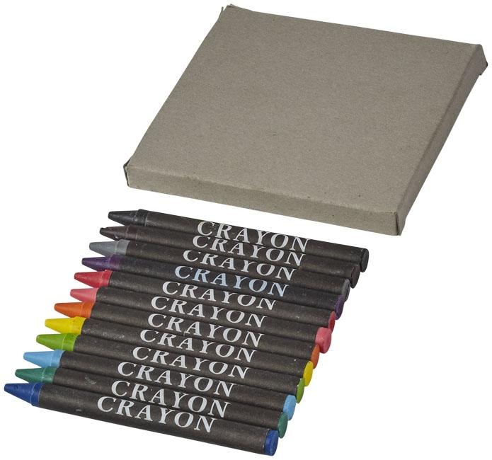 Set de 12 crayons gras Brandt avec son emballage en carton