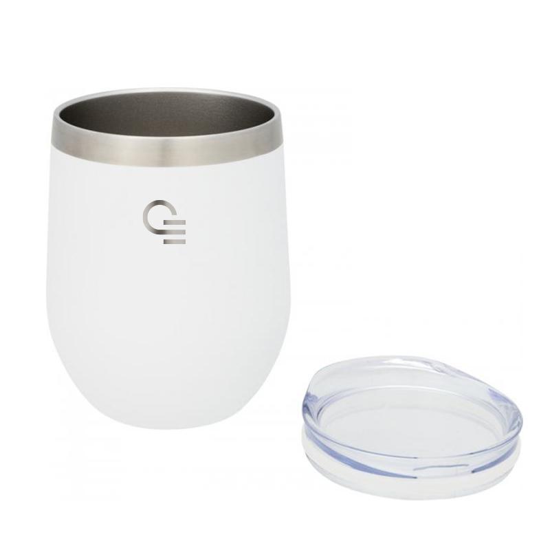 Mug isotherme publicitaire Corzo 350 mL - Coloris blanc