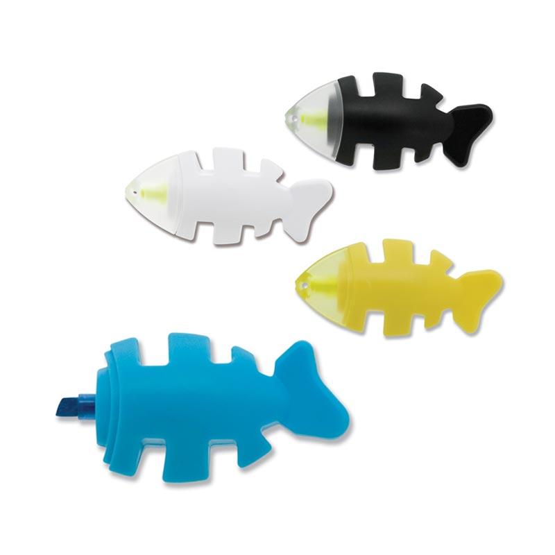 Surligneur publicitaire poisson - Coloris disponibles